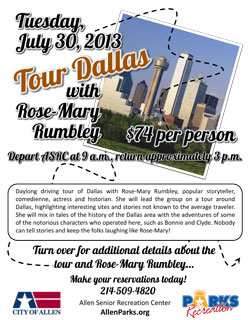 Touring Dallas with Rose-Mary Rumbley
