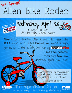 Allen Bike Rodeo - April 20