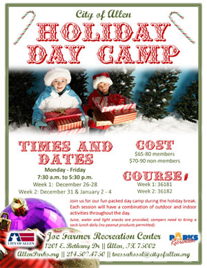 Holiday Day Camp at JFRC