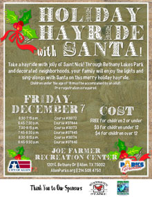Holiday Hayride with Santa - December 7
