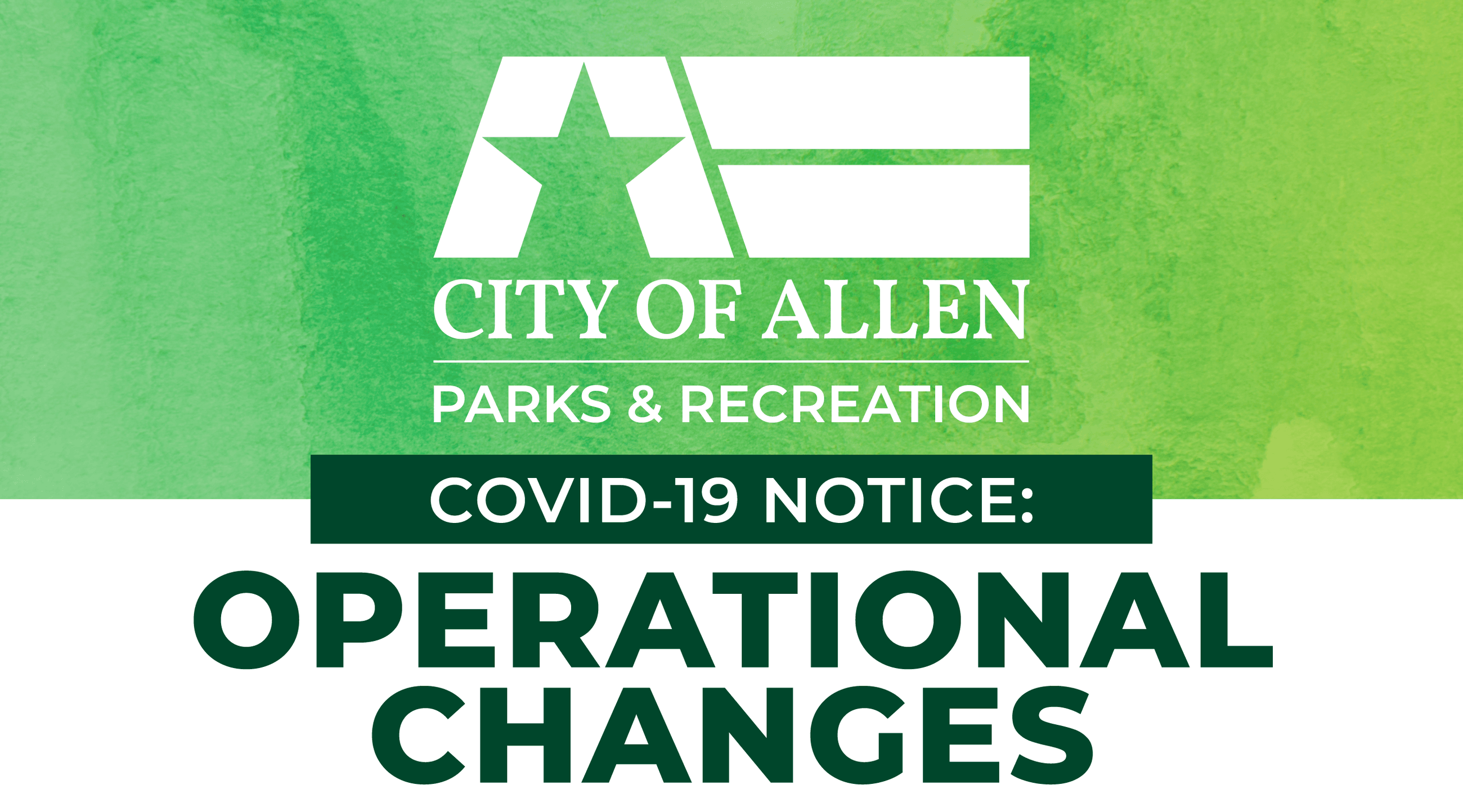 Allen Parks & Recreation offers information on department operations following COVID-19 outbreak