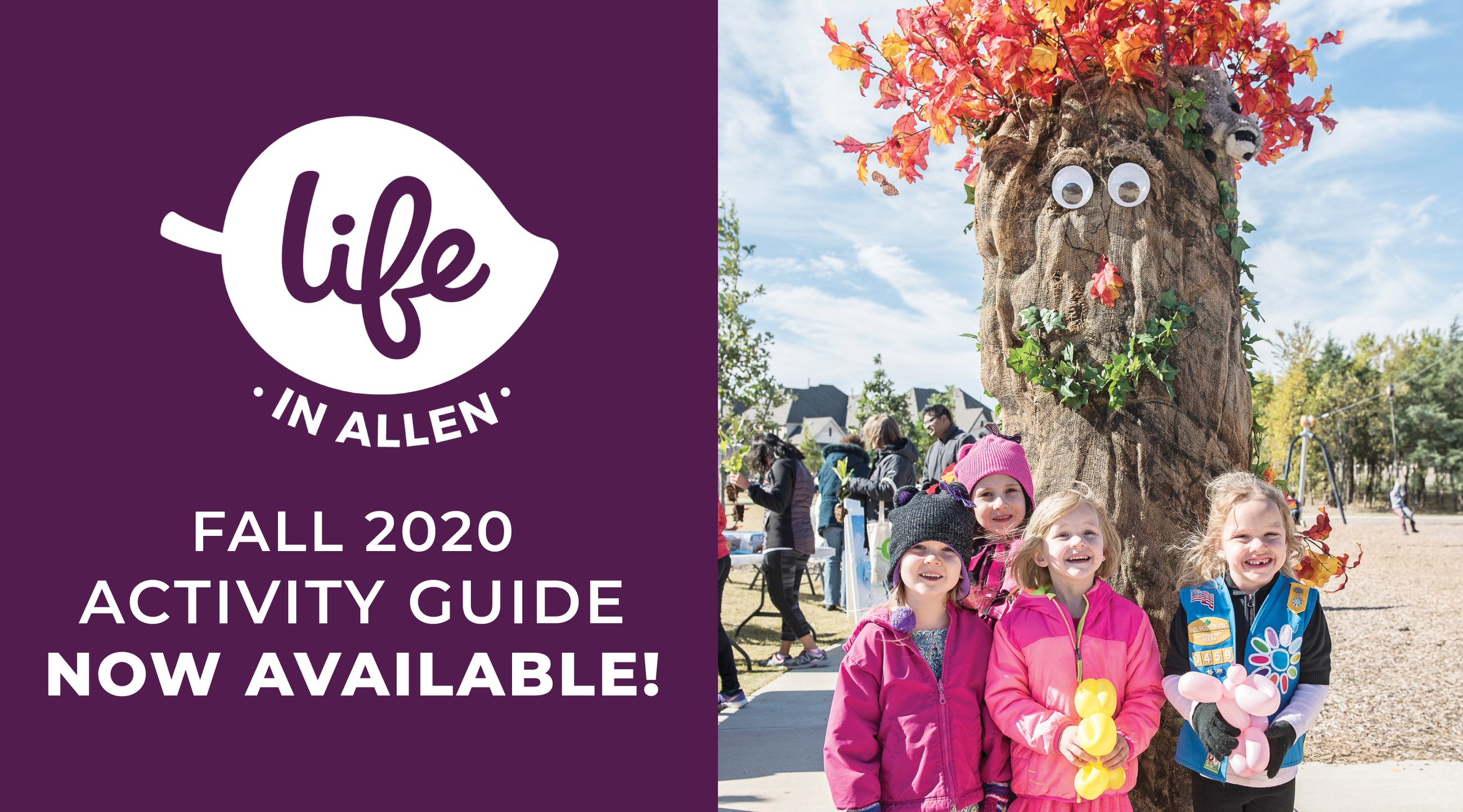 Cover of Life in Allen Fall 2020 Activity Guide