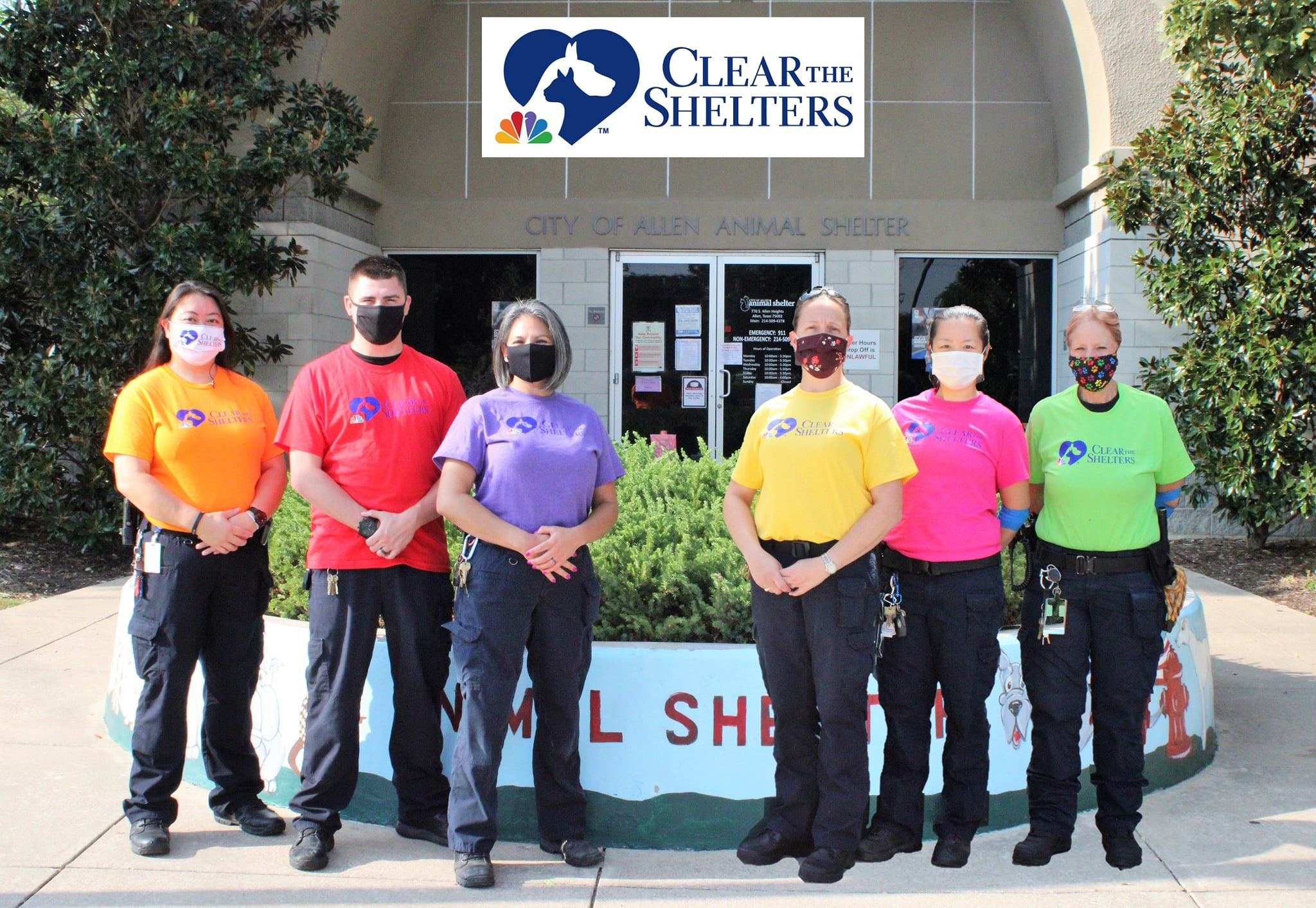 Animal Services staff during Clear the Shelters 2020