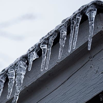 Icicles on a building