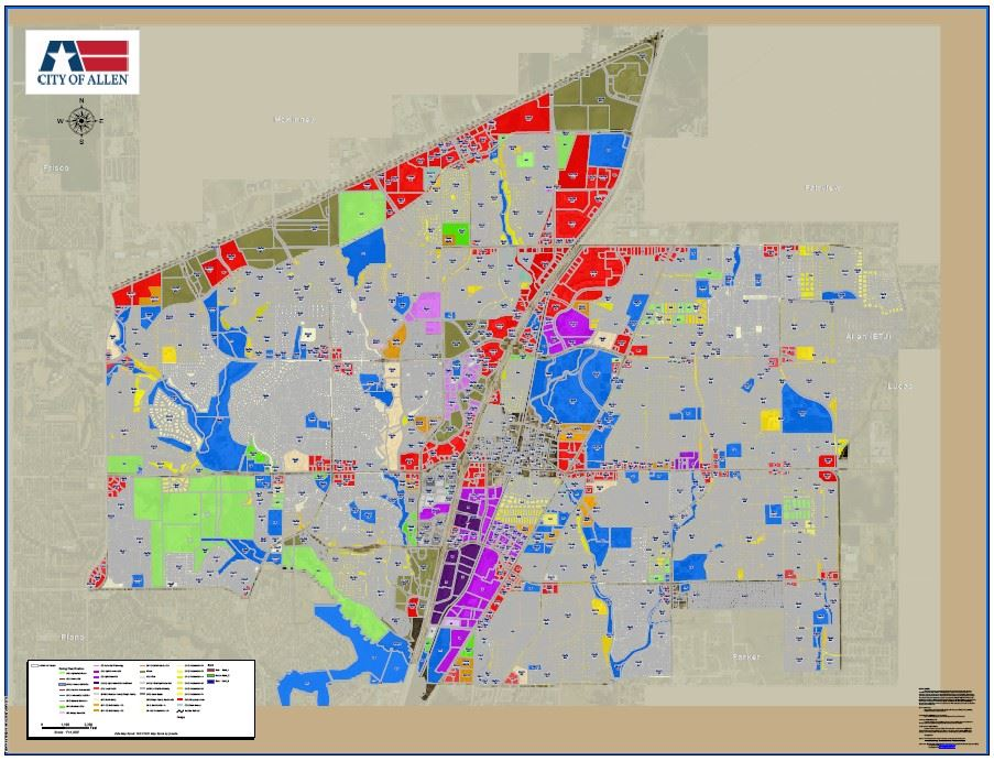 Map Allen Texas