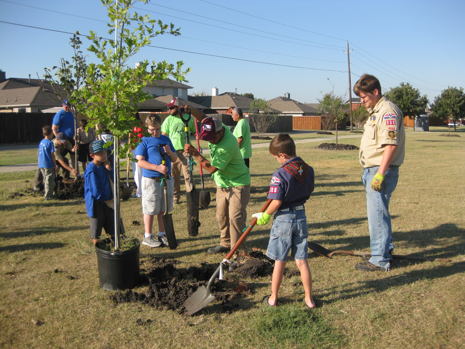 Keep Allen Beautiful Arbor Day Tree Planting