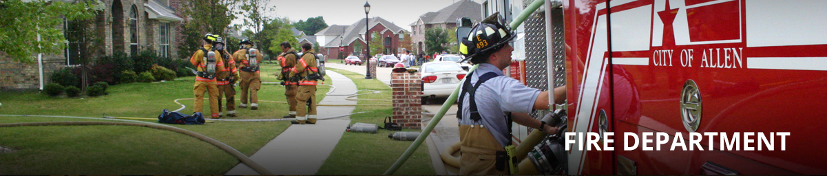Allen Fire Department Header