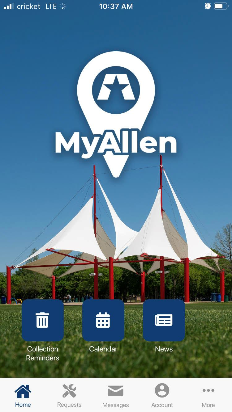 MyAllen app screenshot
